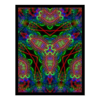 Psychedelic BlackLiTe Inspirations Poster