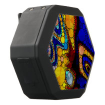 Psychedelic Bling Pattern Black Bluetooth Speaker