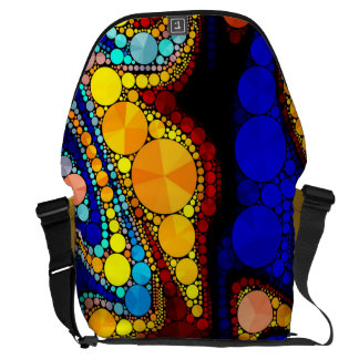 Psychedelic Bling Pattern Courier Bag