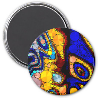 Psychedelic Bling Pattern Magnet