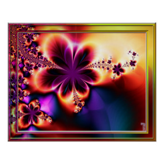 Psychedelic Blooming Variation  Art Print