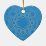 Psychedelic Blue Art Christmas Ornaments