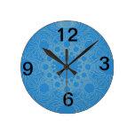 Psychedelic Blue Art Clock