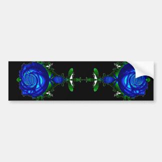 Psychedelic Blue Bumper Sticker