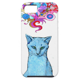 Psychedelic Blue Cat iPhone SE/5/5s Case