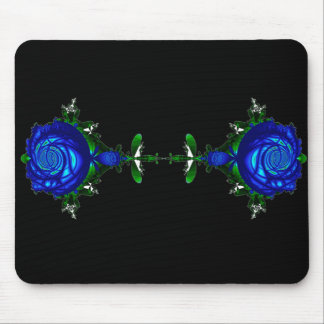 Psychedelic Blue Mouse Pad