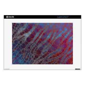 "Psychedelic Blue Red Zebra Skins For 15"" Laptops"
