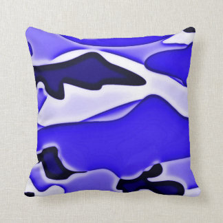 Psychedelic Blue SPECOPS Camo Throw Pillow