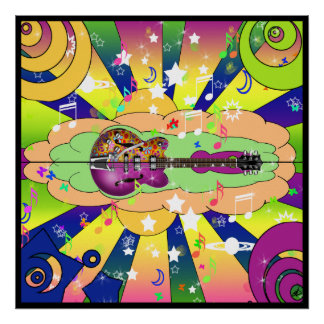 Psychedelic Blues Poster