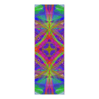 psychedelic bookmark business card template
