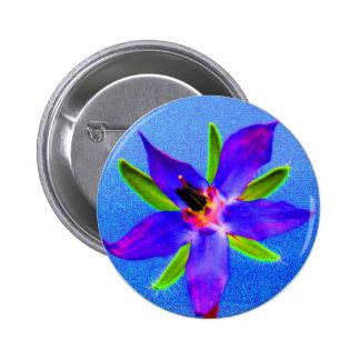Psychedelic Borage 2 Inch Round Button