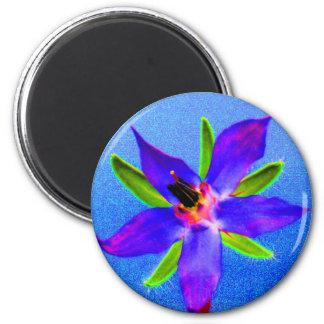 Psychedelic Borage Magnet