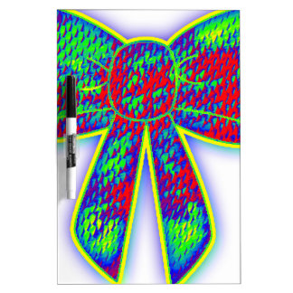 Psychedelic bow dry erase board