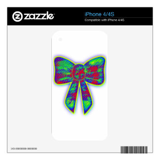Psychedelic bow iPhone 4S decals