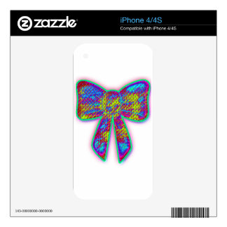 Psychedelic Bow iPhone 4S Skins