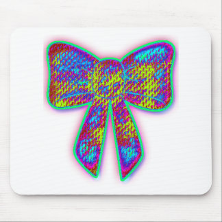 Psychedelic Bow Mouse Pad
