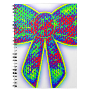 Psychedelic bow notebook