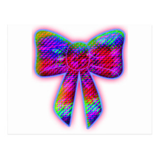 Psychedelic Bow Postcard