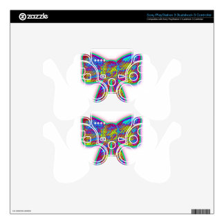 Psychedelic Bow Skin For PS3 Controller