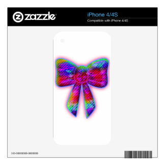 Psychedelic Bow Skins For iPhone 4S