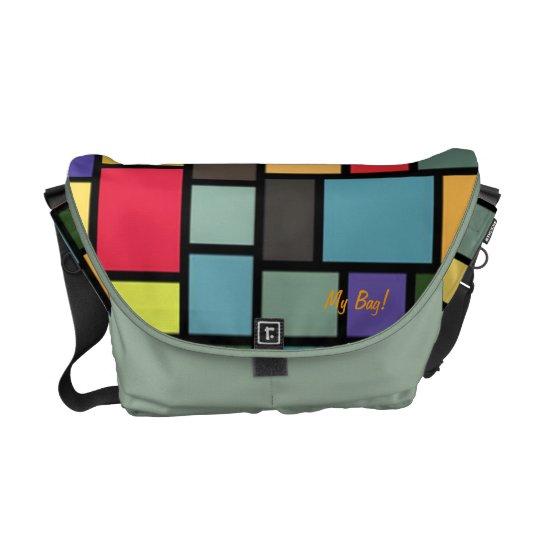 Psychedelic Brick Wall Messenger Bag