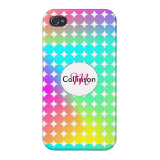 Psychedelic Bright Colorful Rainbow Design Case For iPhone 4