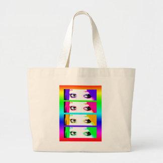 Psychedelic Bright Eyes Bag