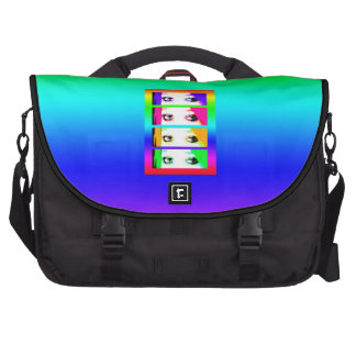 Psychedelic Bright Eyes Laptop Bags