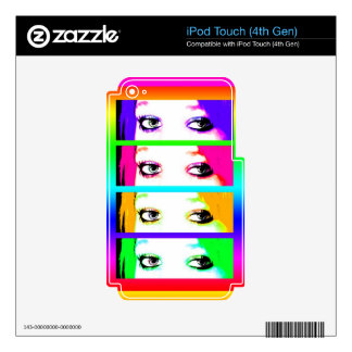 Psychedelic Bright Eyes Decal For iPod Touch 4G