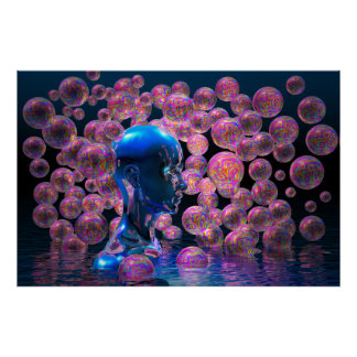 Psychedelic Bubbles poster