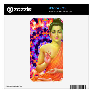 Psychedelic Buddha Decals For iPhone 4S