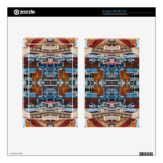 Psychedelic Building Pattern Decal For Kindle Fire