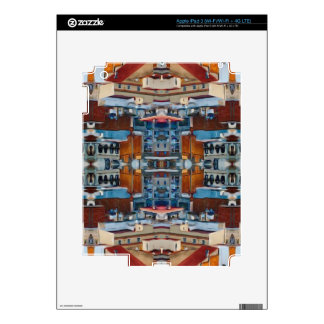 Psychedelic Building Pattern Skin For iPad 3