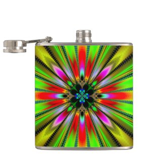 Psychedelic Burst of Color Flask