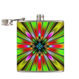 Psychedelic Burst of Color Flask