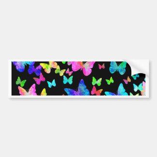 Psychedelic Butterflies Bumper Sticker