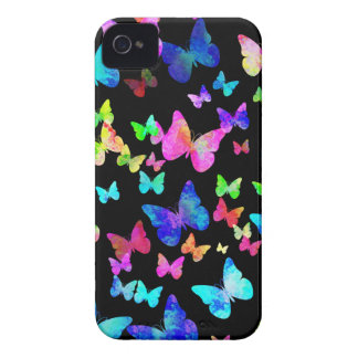 Psychedelic Butterflies iPhone 4 Case-Mate Case