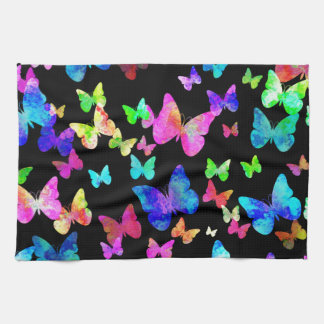 Psychedelic Butterflies Kitchen Towel