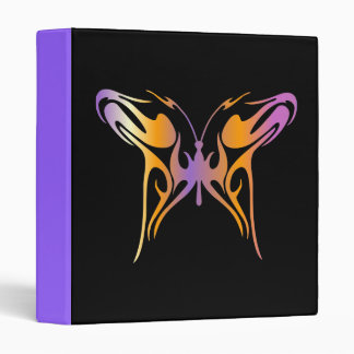 Psychedelic Butterfly Vinyl Binder
