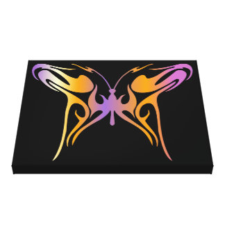Psychedelic Butterfly Gallery Wrapped Canvas