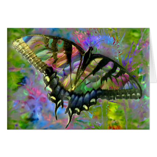 [Psychedelic Butterfly] Colorful [Blank Inside] Card