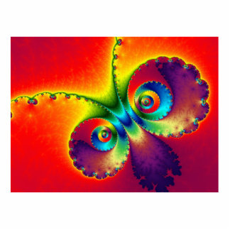 Psychedelic Butterfly Cutout