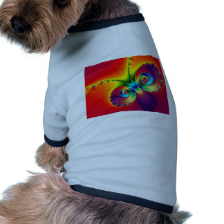 Psychedelic Butterfly Dog Tee Shirt