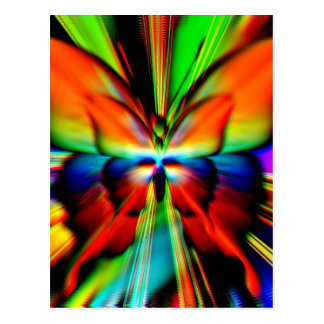 Psychedelic Butterfly Fractal Post Card