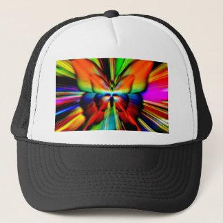 Psychedelic Butterfly Fractal Trucker Hat