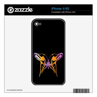 Psychedelic Butterfly iPhone 4 Skins