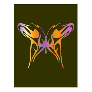 Psychedelic Butterfly Postcard