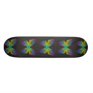 Psychedelic butterfly. skateboard