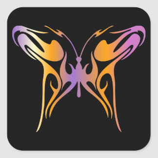 Psychedelic Butterfly Stickers