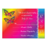 Psychedelic Butterfly Wedding Designs Card